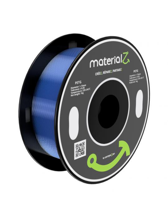 Filaments PETG - Filament PETG MaterialZ EcoZen SK2100 1,75mm - 1Kg Bleu Saphir - 1