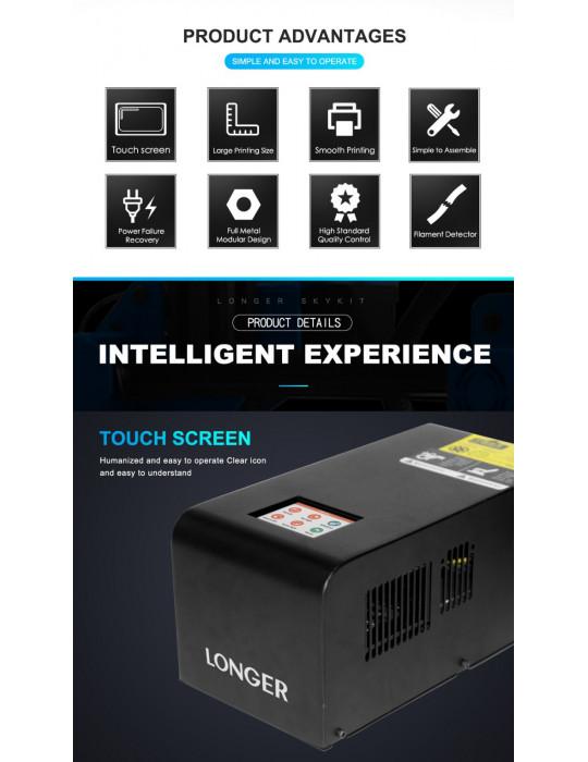 FDM Cartésiennes - Imprimante 3D Longer3D LK1 V2 FDM 300x300x400mm (Marlin ready) - 9