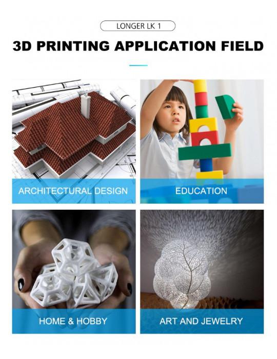 FDM Cartésiennes - Imprimante 3D Longer3D LK1 V2 FDM 300x300x400mm (Marlin ready) - 12