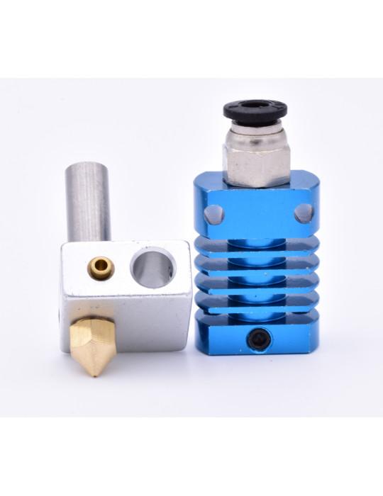 Hotends - Kit Hotend MK8 gorge avec PTFE - bleu (Creality, Alfawise, Longer3d etc...) - 1