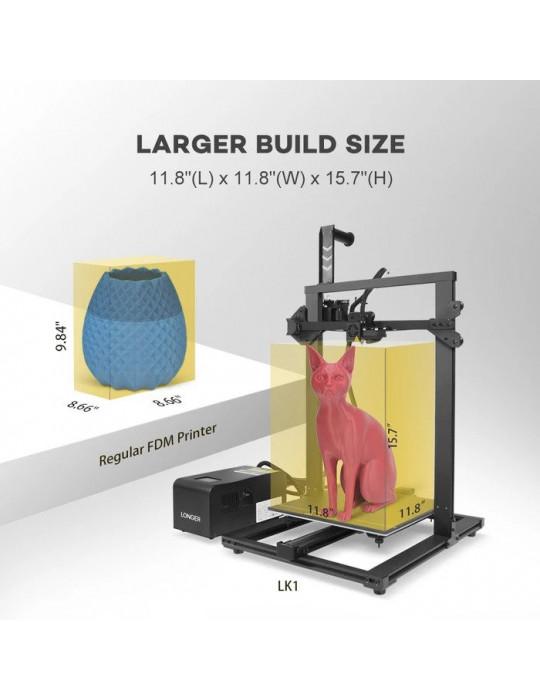 FDM Cartésiennes - Imprimante 3D Longer3D LK1 V2 FDM 300x300x400mm (Marlin ready) - 3