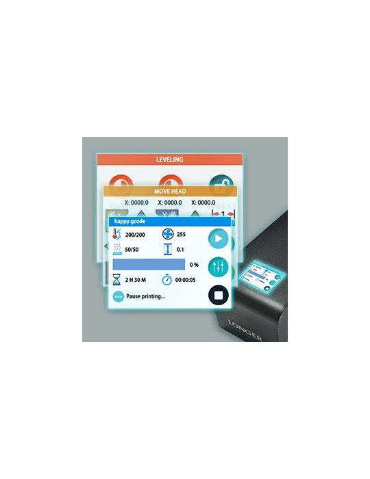 FDM Cartésiennes - Imprimante 3D Longer3D LK1 V2 FDM 300x300x400mm (Marlin ready) - 10