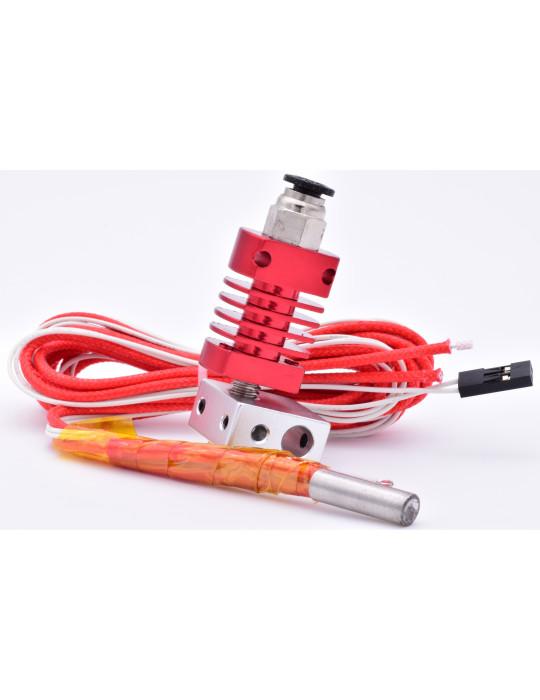 Hotends - Hotend MK8 complète avec gorge (heatbreak) téflon 24V - 1