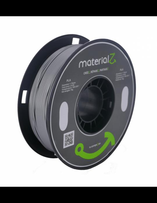 Filaments PLA - Filament PLA MaterialZ Ingeo 4032D 1,75mm - Anthracite Grey (gris anthracite) - 2