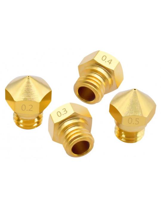 Buses - Buse laiton type MK10 diamètre 0.2m pour filament 1.75mm - 1