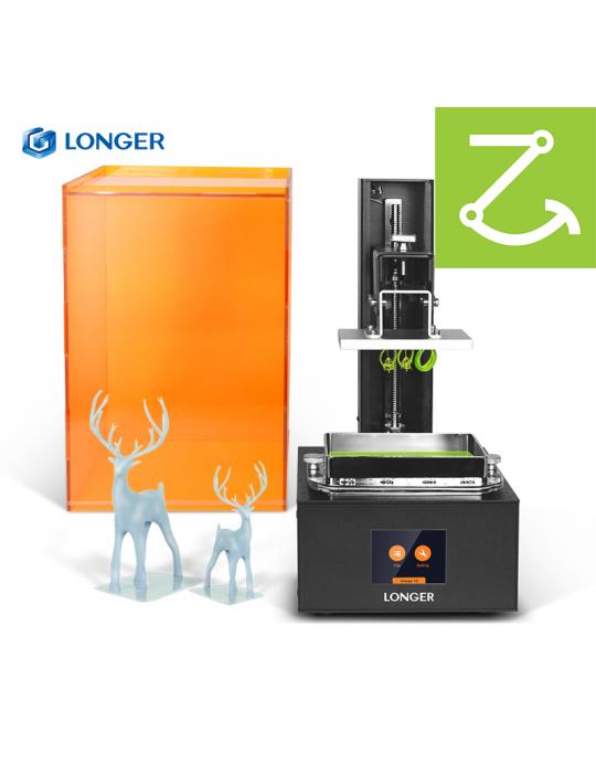 SLA, LCD - Pack « ModeliZ » avec imprimante 3D Longer Orange 30 et 1L de résine Prima Creator - 3