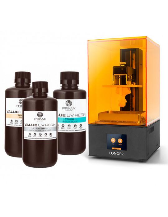 SLA, LCD - Pack « ModeliZ » avec imprimante 3D Longer Orange 30 et 1L de résine Prima Creator - 1