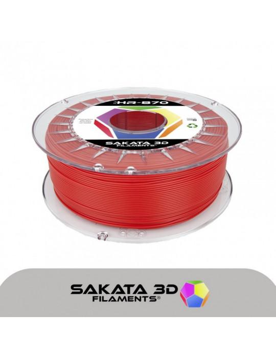 Filaments PLA - Filament PLA SAKATA HR-870 1,75mm 1Kg (Ingeo 3D870) - Rouge - 1