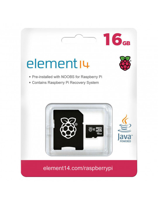 Electronique - Raspberry Pi NOOBS sur carte Micro-SD Transcend 16Go - 5