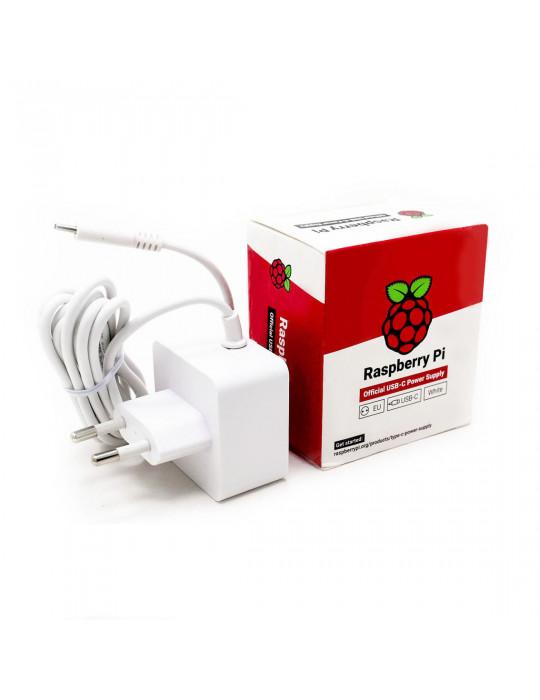 Alimentations - Alimentation officielle Raspberry Pi 4 Blanche - 2