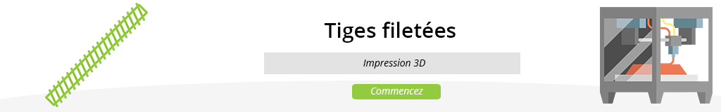 Tiges filetés