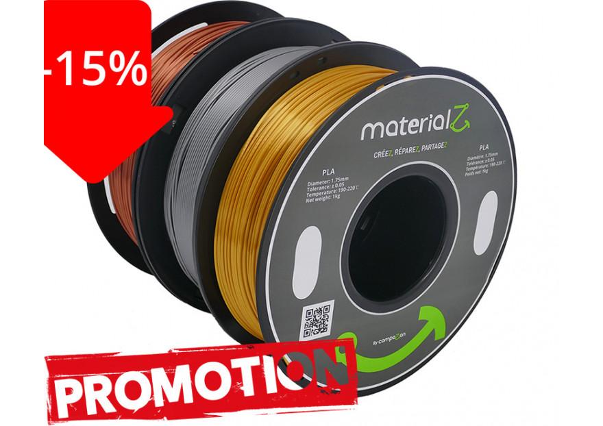 -15% sur les filaments Elements MaterialZ