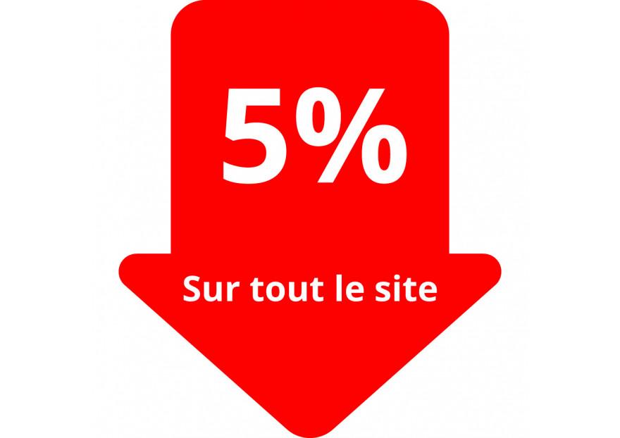 5% de réduction sur tout le site 48h